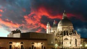 Veneza em Itália, vídeo do lapso de tempo Imagens de Stock