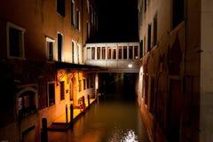 Veneza em a noite Fotografia de Stock Royalty Free