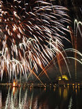 Veneza - fogos-de-artifício durante a festa do Redeeme Imagem de Stock
