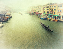 Veneza - foto do vintage Fotos de Stock Royalty Free