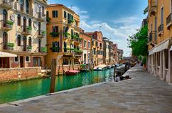 Veneza - Grand Canal e basílica Santa Maria della Salute Fotografia de Stock Royalty Free