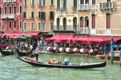 Veneza Grand Canal visto de Ponte Rialto, Itália fotografia de stock