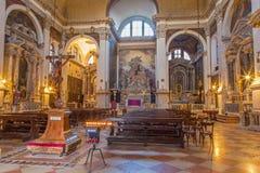 Veneza - a igreja Chiesa di San Moise foto de stock royalty free