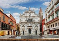 Veneza - igreja San Moise, Itália foto de stock