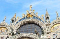 VENEZA ITÁLIA - 29 DE SETEMBRO DE 2017: Detalhe arquitetónico Foto de Stock Royalty Free