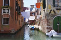 Veneza, Itália, ramo de Rio della Sensa Fotografia de Stock Royalty Free