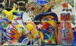 Veneza, Itália, vidro Venetian de Murano imagem de stock
