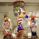 Veneza, Itália, vidro Venetian de Murano foto de stock royalty free