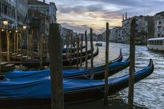 Veneza, Italy Veneza bonita na opini?o do por do sol de Grand Canal foto de stock