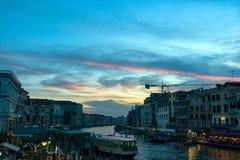 Veneza, Italy Veneza bonita na opini?o do por do sol de Grand Canal imagens de stock royalty free
