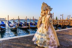 Veneza, Italy Carnaval de Veneza fotografia de stock royalty free