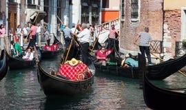 Veneza, Italy 31 de agosto de 2014 Tráfego em Veneza Foto de Stock