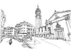 Veneza, Italy Del Mondo Novo de Ponte, Campo S Maria Formosa Imagem de Stock