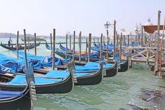 Veneza, Italy gondolas Fotografia de Stock