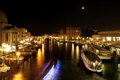 Veneza na noite Foto de Stock Royalty Free