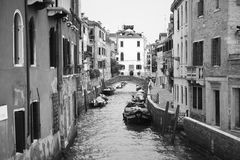 Veneza no monochrome Foto de Stock Royalty Free