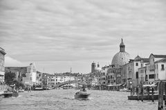 Veneza no monochrome Fotos de Stock Royalty Free