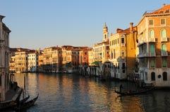 Veneza, o canal grandioso fotos de stock