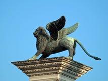 Veneza - o coloumn de Marco de Saint - detalhe Fotos de Stock