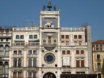 Veneza - o dell'Orologio de Torre Fotos de Stock Royalty Free