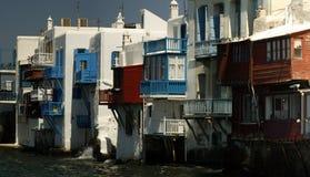 Veneza pequena - Mykonos Fotografia de Stock Royalty Free