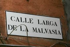 Veneza, placa da rua foto de stock royalty free
