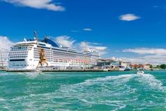 Veneza Porto do passageiro do mar Foto de Stock