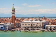 Veneza, praça San Marco e palácio do doge, Itália Foto de Stock Royalty Free