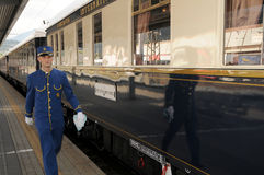 A Veneza Simplon-Orientar-Expressa - o maestro Imagens de Stock