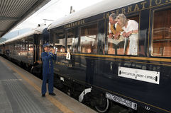 A Veneza Simplon-Orientar-Expressa - o maestro Fotografia de Stock Royalty Free