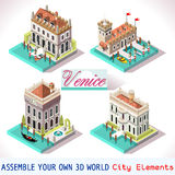 Veneza 01 telhas isométricas Fotos de Stock