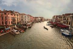 Veneza, vista da ponte de Rialto. Italy. Fotos de Stock