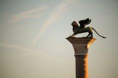 Veneza voou o leão Fotografia de Stock Royalty Free
