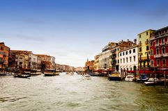 Venezia,意大利-重创的运河 库存照片