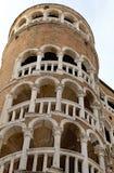 Venezia, VE,意大利- 2015年12月31日:古老威尼斯式宫殿 库存图片