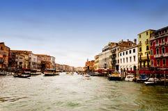 Venezia, Италия - канал большой Стоковые Фото