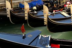 Venezia. Gondolas on the canal grande Royalty Free Stock Photography