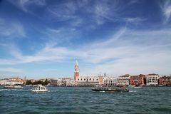 Venezia. Venice is celebrated for its beautiful buildings Royalty Free Stock Image