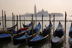 Venezia. View of venice with water and gondola Stock Images