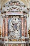 Venezia - altare laterale con gli angeli in chiesa Santa Maria del Rosario (dei Gesuati di Chiesa) Fotografia Stock