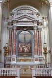 """Venezia - altare laterale con la crocifissione da Tintoretto (1518†""""1584) in chiesa Santa Maria del Rosario (dei Gesuati di Chi Fotografia Stock Libera da Diritti"""