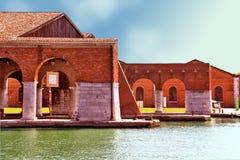 Venezia, Arsenale - porto interno immagine stock