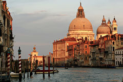 Venezia buildings. On one side and the other of Grand Canal Stock Images