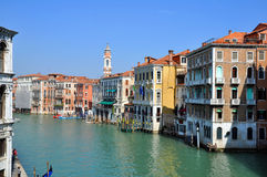 Venezia Canal Grande. A view of the Canal Grande - Venezia - Italy Royalty Free Stock Photo
