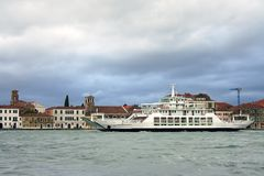 Venezia, canale di Giudecca Fotografie Stock Libere da Diritti