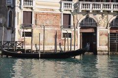 Venezia, Canale gran Fotografie Stock Libere da Diritti