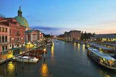 Venezia - canale grande Immagini Stock Libere da Diritti