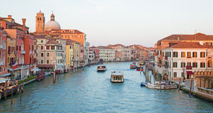 Venezia - canale grande dal degli Scalzi di Ponte Immagini Stock Libere da Diritti