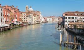 Venezia - canale grande dal degli Scalzi di Ponte Fotografia Stock Libera da Diritti