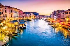 Venezia, canale grande - l'Italia fotografia stock